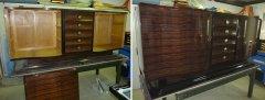 Art Deco Sideboard Makassar, Originalzustand und restauriert