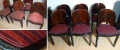 Art Deco Stühle Originalzustand und restauriert
