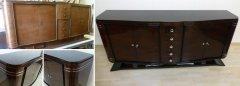 Art Deco Sideboard Palisander, unrestauriert und hochwertig restauriert