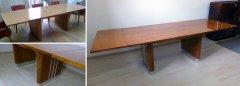 Art Deco Tisch vor der Restauration und hochwertig restauriert