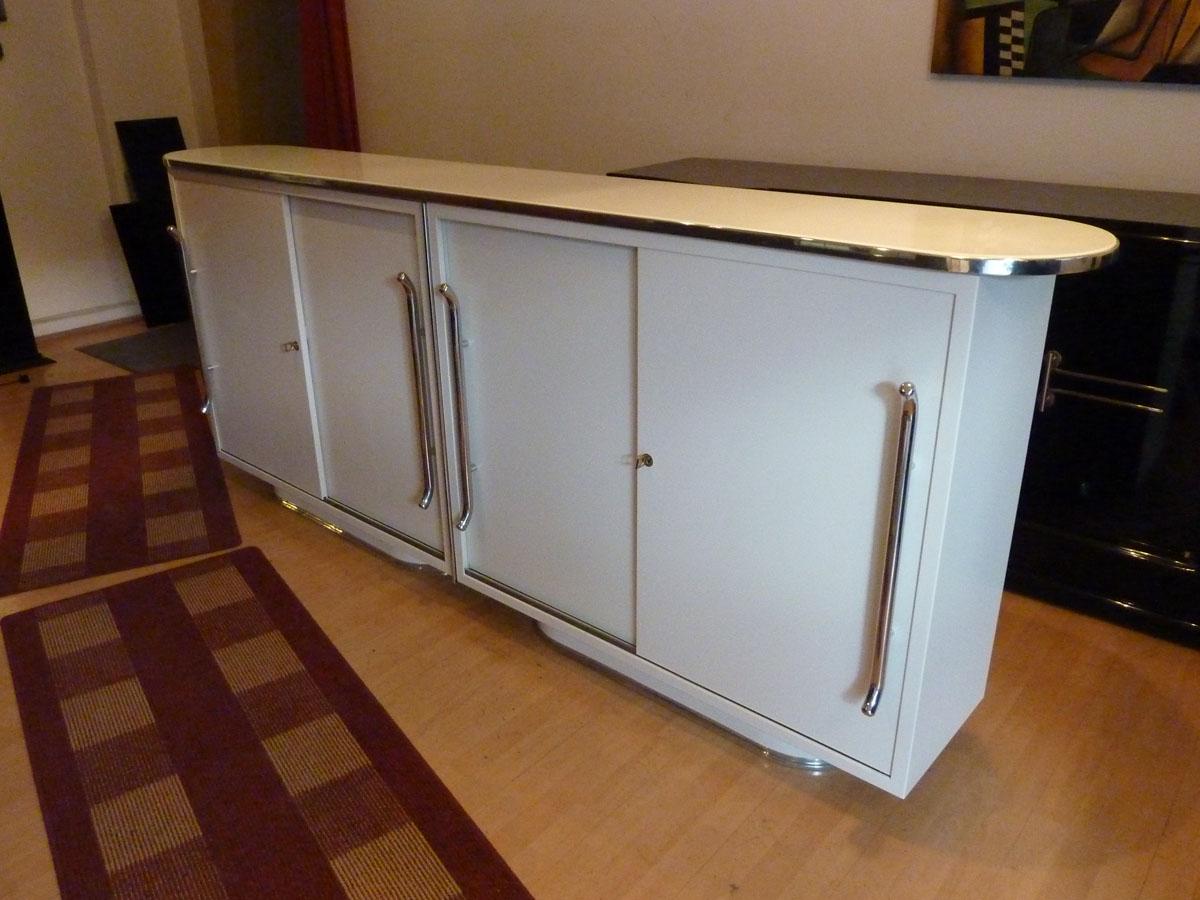 Mauser Sideboard, weiß seidenmatt, restauriert