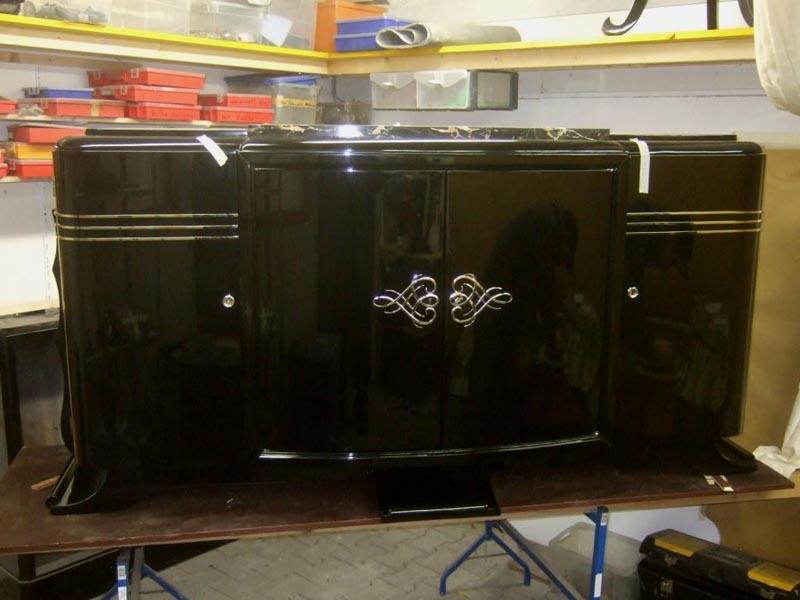 Art Deco Sideboard, restauriert, Artdeco