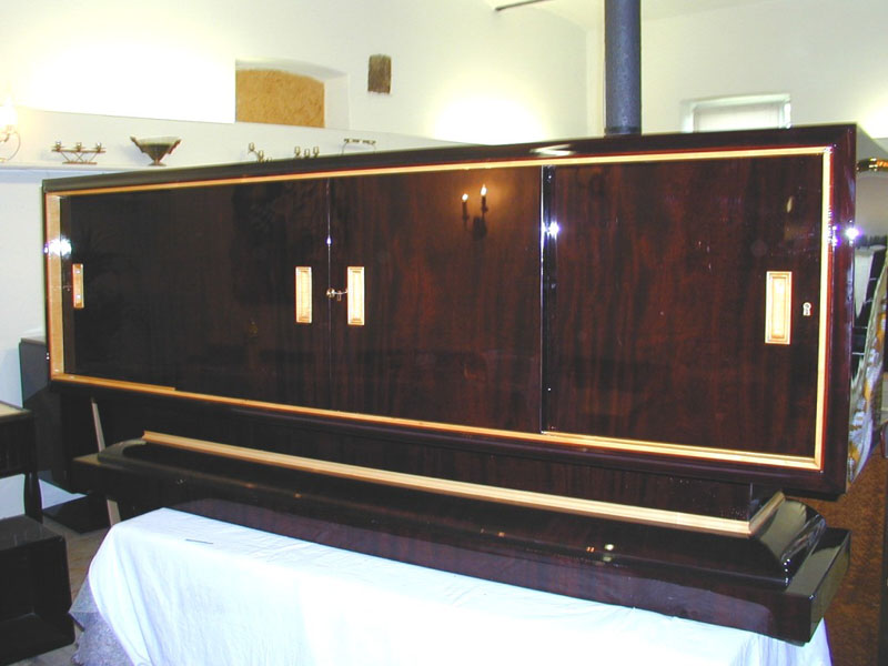 Art Deco Sideboard Palisander / Ahorn, Artdeco