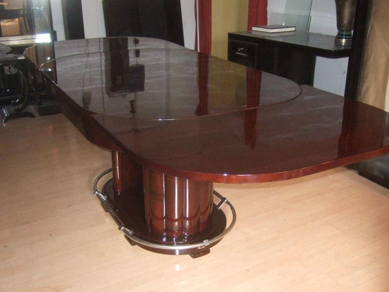 Art Deco Tisch, Nußbaumwurzel, hochglanz, restauriert, Artdeco