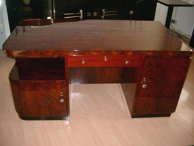 Art Deco Schreibtisch restauriert, Artdeco