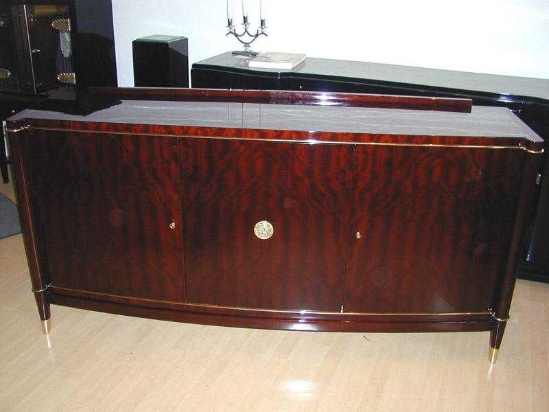"Sideboard Art Deco ""de Cone"", restauriert und hochglanz poliert, Artdeco"
