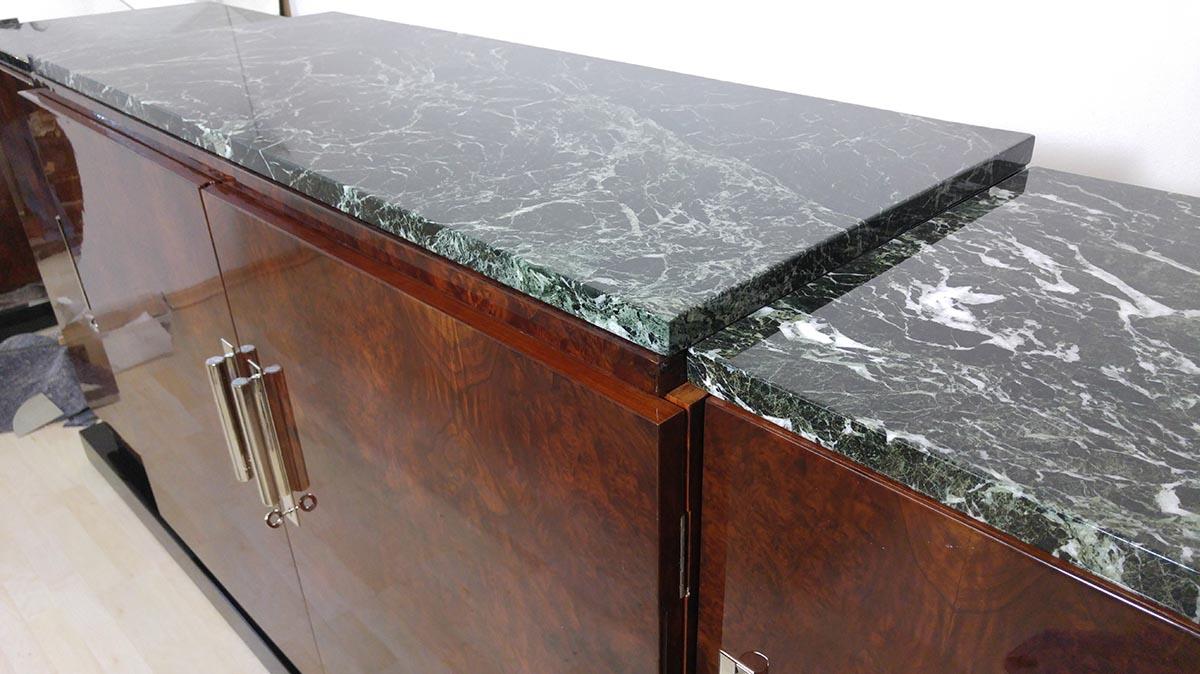 Art Deco Sideboard, Marmor poliert