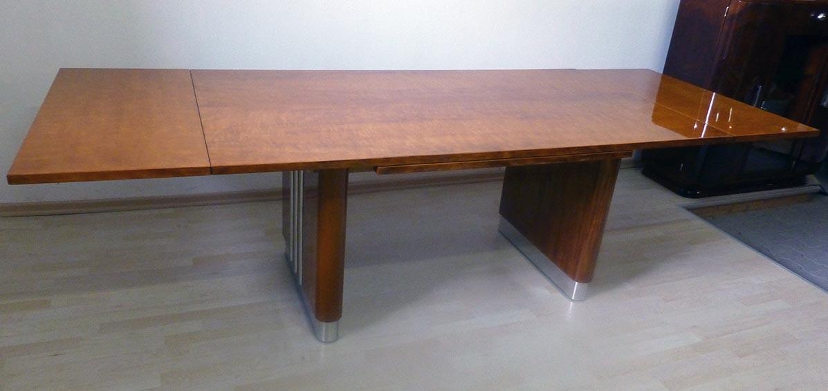 Art Deco Tisch, Ahorn hochglanz