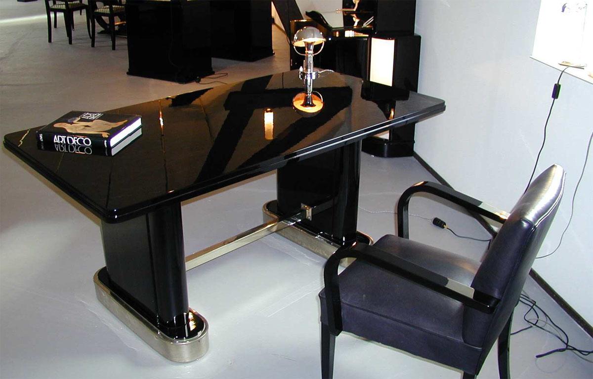 schreibtisch schwarz lack abodyissue. Black Bedroom Furniture Sets. Home Design Ideas