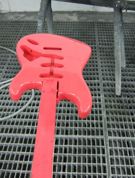 Gitarre in pink hochglanz