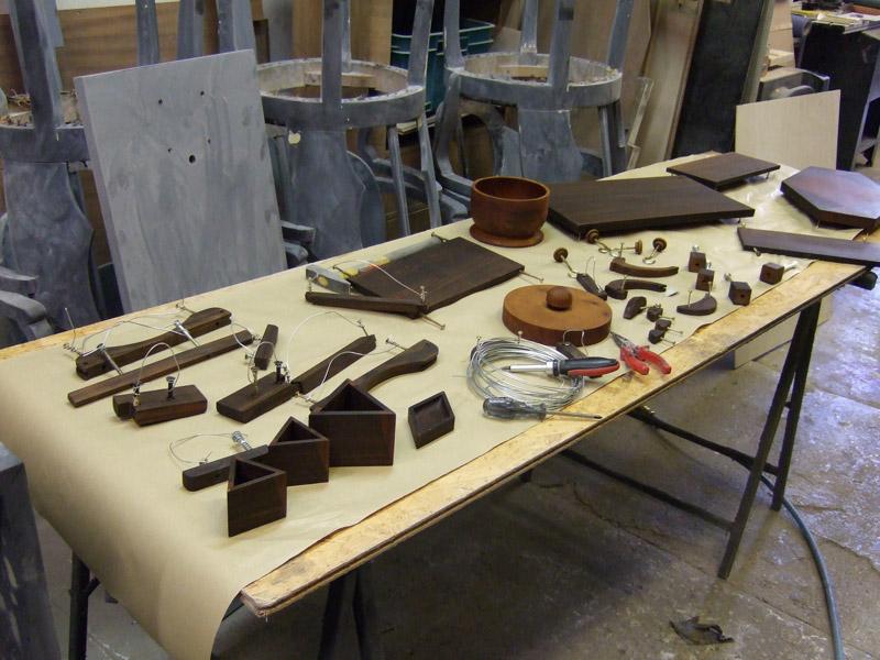 Auch Kleinteile erfahren eine sorgfältige Aufrüstung und Bearbeitung