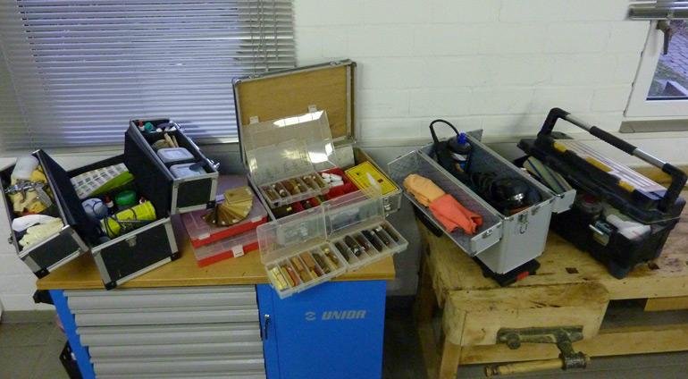 Beispiel Werkzeugauswahl für Vorort Reparaturen